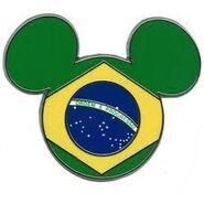 Brazil Flag Pin