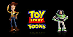 Toy Story Toons logo woody buzz no text