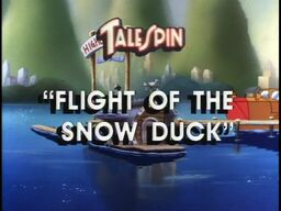 Flight of the Snow Duck titlecard