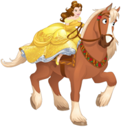 Belle riding Philippe