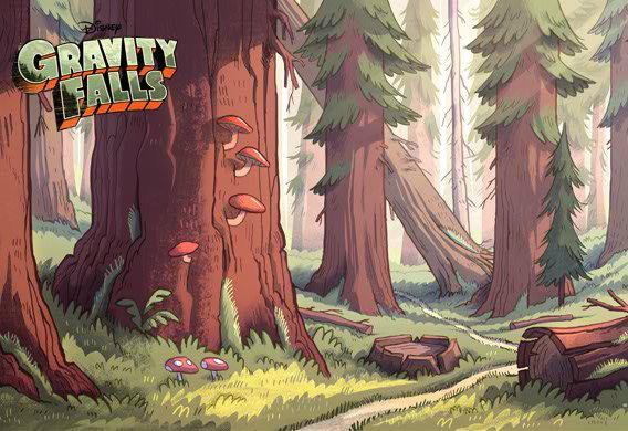 Gravity Falls Forest Disney Wiki Fandom Powered By Wikia