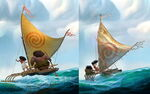 Moana Concept Art Differences