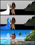 Moana Animation process 1
