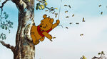 Winnie the Pooh got his bottom stuck in the honey tree
