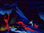 Demons Fleeing