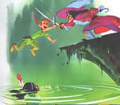 Pan Vs Hook-Peter Pan's Little Golden book (1952)