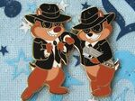 Chip and Dale as the Blues Brothers Pin