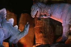 Stegosaurus and Megalosaurus, Ellen's Energy Adventure
