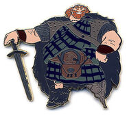 Disneystore.com Brave 5 pin set - King Fergus Only
