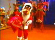 Santa goof and reindeer