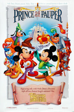 Mickey prince and pauper poster 7808