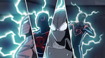 Spider-Man 2099, Spider-Man Noir, Spyder-Knight, Miles Morales USMWW