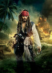 Jack Sparrow OST Textless Poster Variant 2