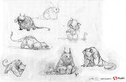 Gruff concept sketches