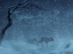 Bambi and his mother in winter 2