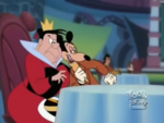 Mortimer flirting with the Queen of Hearts