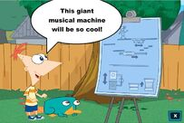 Phineas with machine