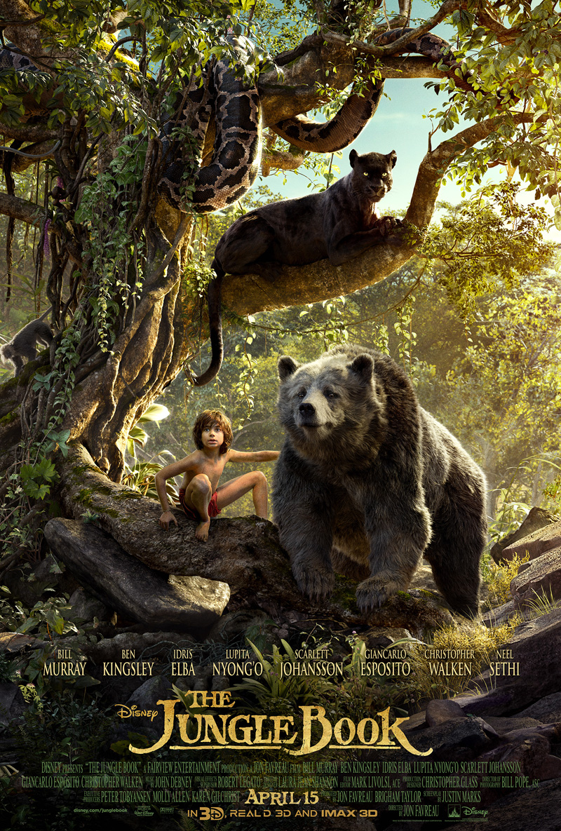 Image result for The Jungle Book 2016 poster