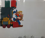 The Brave Engineer animation cel 1