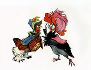 Chanticleer Two Hens (2)