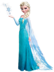 Elsa with snowflake pose