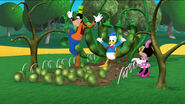 Goofy and donald tripping on the beans