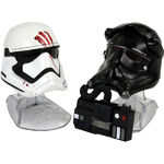 Finn and First Order Tie Pilot Helmets Black Series