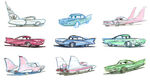 Pixar Cars Characters Sketches 03 Flo