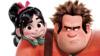 Vanellope on Wreck it Ralph's Right Shoulder