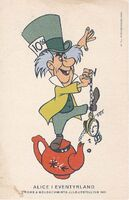 Danish mad hatter postcard 640
