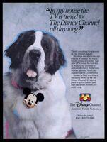 Disney channel dog ad 1988