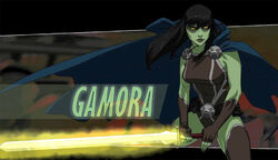 Gamora - ultimate spider-man guardians of the galaxy