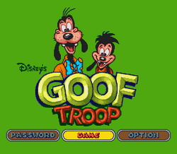 Goof Troop SNES Title Screen