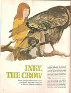 Inky the crow