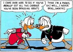 Scrooge confront Glomgold