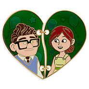 Carl and Ellie Broken Heart Pin