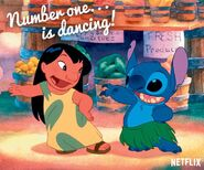 Lilo and Stitch - Netflix - Number one...is dancing