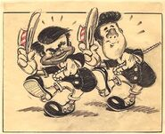 Disney's Mickey Mouse - The Nifty Nineties - Storyboard Concept - Fred and Ward