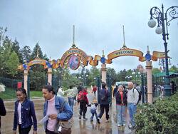 Entrance of Disneyland Paris