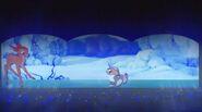 Bambi in winter dreams
