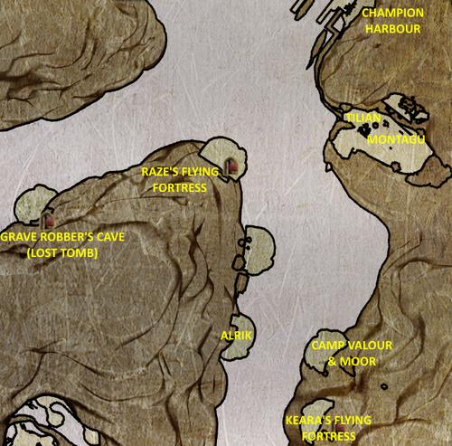 Divinity 2 Keara's Flying Fortress location map