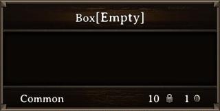 DOS Items Cntr Box Stats