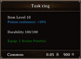 DOS Items CFTX 10.5 Tusk Ring