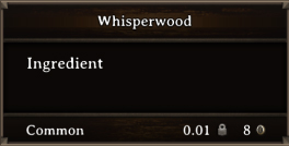 DOS Items CFT Whisperwood