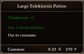 DOS Items Pots Large Telekinesis Potion Stats