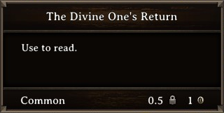 DOS Items Books The Divine One's Return Stats