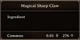 DOS Items CFT Magical Sharp Claw