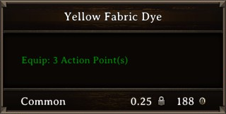 DOS Items CFT Yellow Fabric Dye Stats