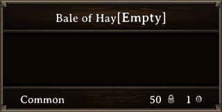 DOS Items Cntr Bale of Hay Stats