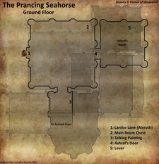 Prancing Seahorse ground floor map (D2 FoV location)